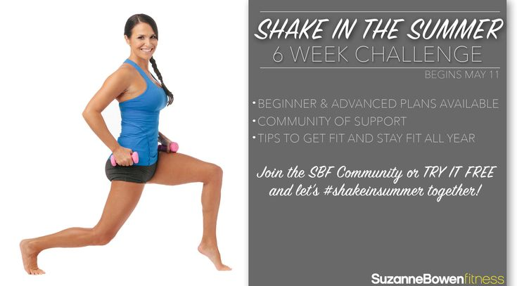Getting ready to kick off the 6 week Shake In the Summer Challenge!