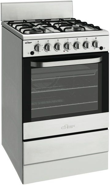 Chef CFG504SALP 54cm Gas Upright Cooker at The Good Guys