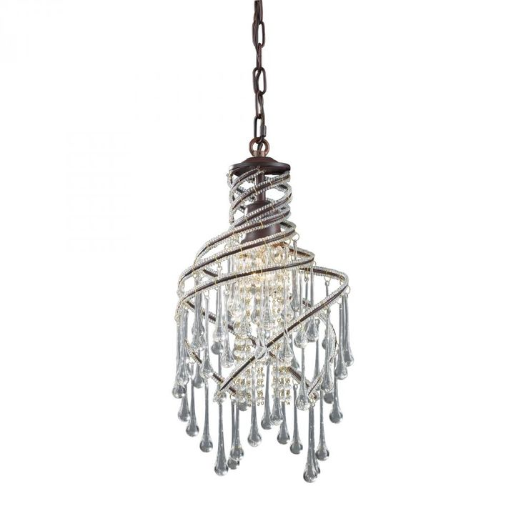 mini elk chandelier with tear drop crystals has got some bling like it find it