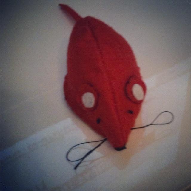 Felt mouse pincushion #craft #mouse