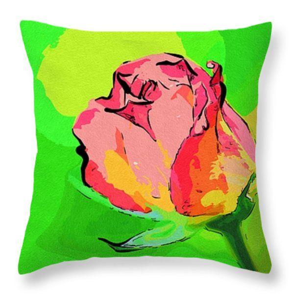 Art Flowers Throw Pillow  #flowers #art #poster #gifts
