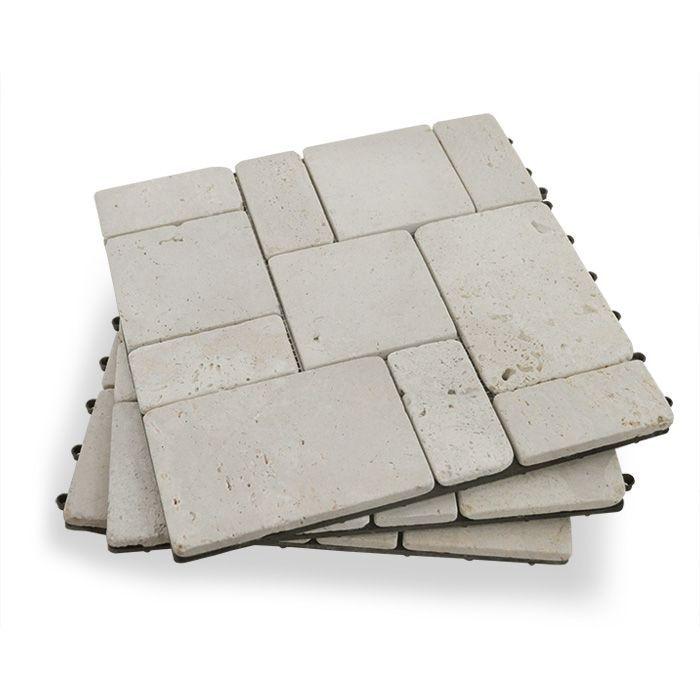 Travertine Stone Deck Tiles - Box of 10
