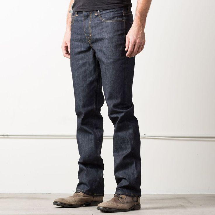 Mens Straight 12.75oz Raw Denim Jeans In 24 Dip Indigo Timber | DSTLD Luxury Jeans & Essentials | No Retail Markup