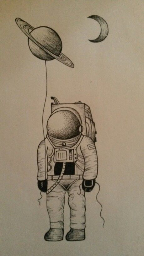 astronaut space drawing - photo #7