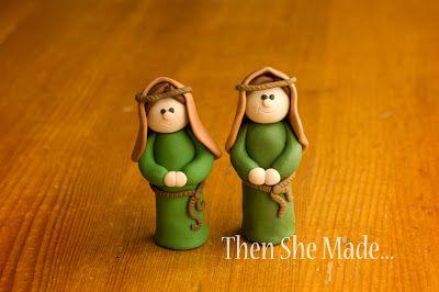 DIY nativity tutorial - clay Joseph