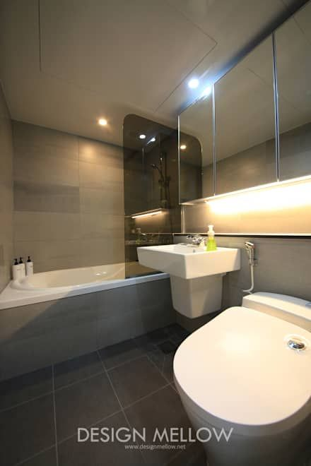 화장실 인테리어 디자인 & 아이디어  욕실, 화장실 및 욕실 ...