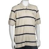IZOD Men's Short Sleeve Pique Bar Stripe Polo, Rock Heather, Large (Apparel)By IZOD