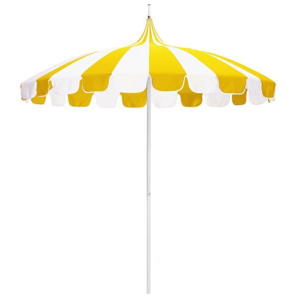 Natural And Sunflower Yellow Fabric California Umbrella Smpt 852