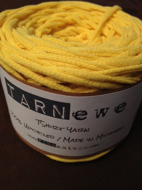TARNewe Recycled TShirt Yarn Wolverine Maize 81.5 by pinkamingo, $13.75