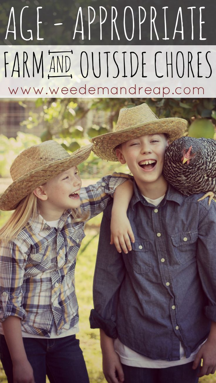 Age-Appropriate Farm {and} Outside Chores - Weed'em & Reap   --I am far too soft on my kids!