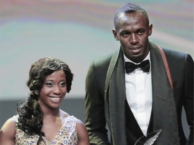 """Jamaican sprint stars Usain Bolt and Shelly-Ann Fraser-Pryce received the male and female World Athlete of the Year awards by the IAAF."""
