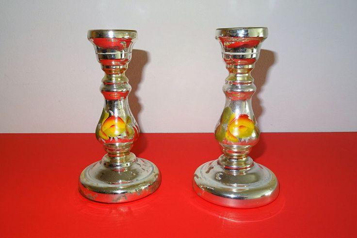 19. JHDT. BAUERNSILBER KERZENLEUCHTER BIEDERMEIER SILBERGLAS SILVER GLASS | eBay