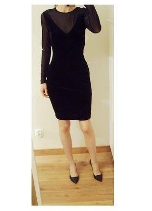 Kup mój przedmiot na #vintedpl http://www.vinted.pl/damska-odziez/sukienki-wieczorowe/13381647-mango-sukienka-wieczorowa-mala-czarna-siateczka-welur-olowkowa-36