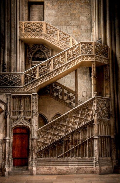 Stairway, Rouen, France