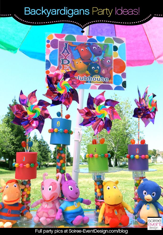| Character Week: Backyardigans Party Decoration Ideas | http://soiree-eventdesign.com