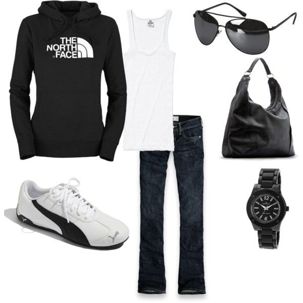 . cute. comfy. casual.: Shoes, Fall Wint, Lazy Day, Black And White, Cute Casual, Football Games Outfits, Comfy And Cute, The North Faces, My Style