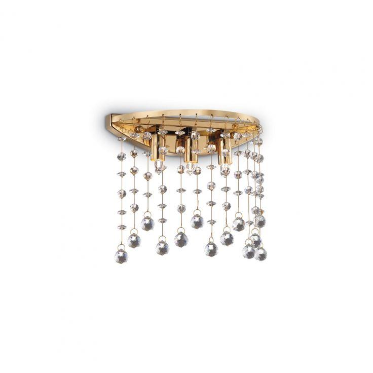 Kristall Wandleuchte Moonlight AP3 oro von Ideal Lux bei Leuchten-Welt.com #moonlight #oro #kristall #ideallux #wandleuchte #wandlampe #edel #schön