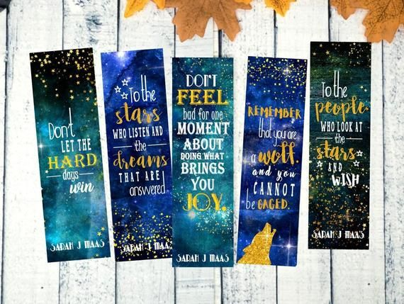 Acomaf Bookmarks A Court Of Thorns And Roses Acotar Mist And