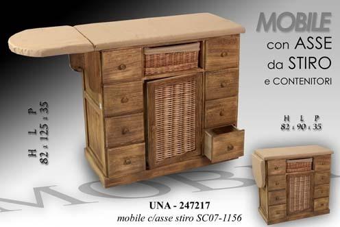 ASSE DA STIRO MOBILE LEGNO 8 CASSETTI ANTA -SOTTOCOSTO