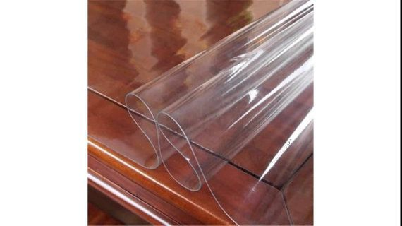 16 Gauge Clear Vinyl Table Cover to protect your table. 72 x 54 Can Customize Size To Your Table PLEASE READ DESCRIPTION