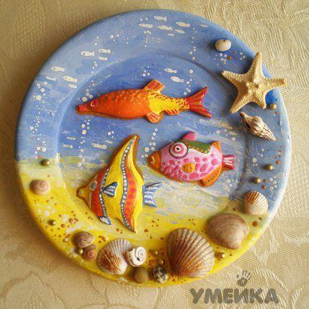 Поделки из ракушек, камней и песка