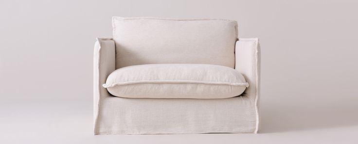 Neva Chair Washed Cotton Linen Corn Silk