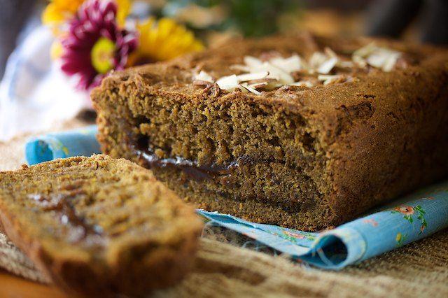What's better than cinnamon swirl bread? Cinnamon Swirl Pumpkin Bread.: Food, Vegan Recipes, Pumpkin Bread, Swirl Pumpkin, Breads, Gluten Free, Free Recipes