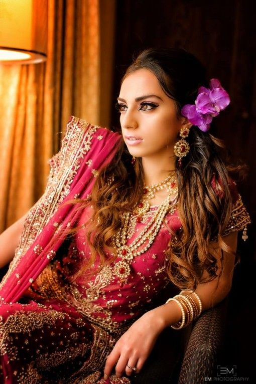 Styled Indian wedding shoot by MG Beauty Enhancement - pink Indian bridal makeup #indianwedding