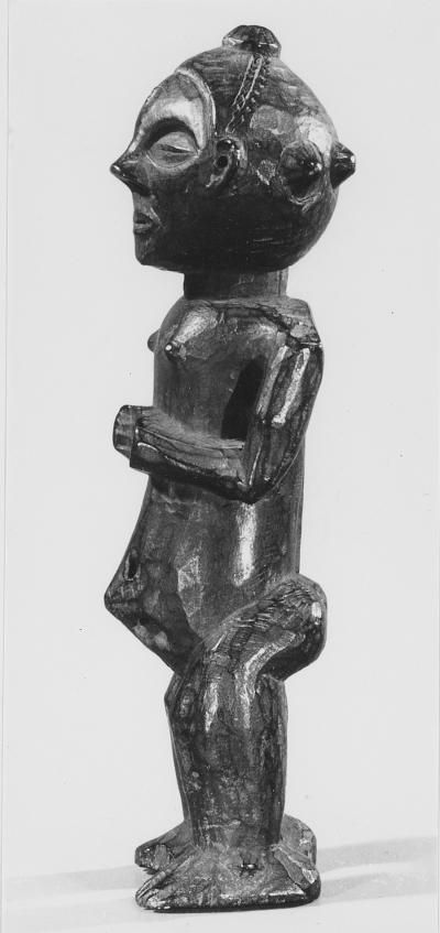 statuette  Materials wood  Place of collecting Central Africa  Culture Suku  Dimensions 25,8 cm  I