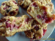 Muffins de myrtilles à la farine de lupin ou maïs (végétalien)