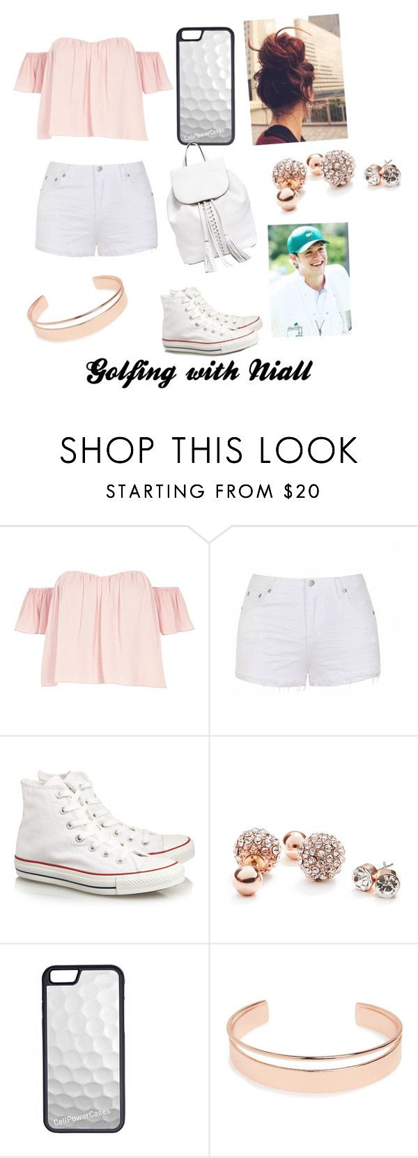 """""""Golfing with Niall"""" by razamaheen-1 on Polyvore featuring River Island, Ally Fashion, Converse, GUESS, Augusta, CellPowerCases, Leith and Rebecca Minkoff"""