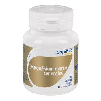 Magnésium marin synergisé Complément alimentaire à base de magnésium, mélisse et vitamine B6.  Contribue à réduire la fatigue, au fonctionnement normal du système nerveux et à une fonction musculaire normale, grâce au magnésium.
