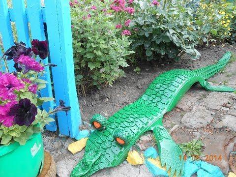 Поделки из шин для сада - крокодил. 35 фото крокодила из шин - YouTube