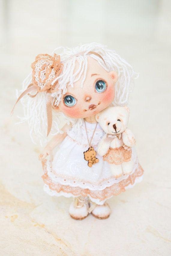 Art doll textile doll fabric doll interior doll от AliceMoonClub