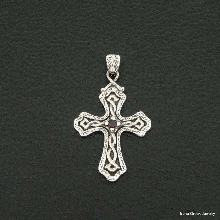 925 sterling silver cross #IreneGreekJewelry #Pendant