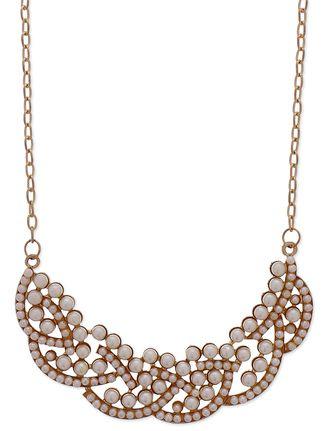 Gold pearls embellished bib collar necklace Online, , LimeRoad.Rs499