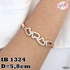 Jual Gelang Love Lapis Emas 18K B 1324 - Pusat Perhiasan Imitasi   Tokopedia Fast Respon Pin BB : 5F81C0E7 No Hp : 081223335084
