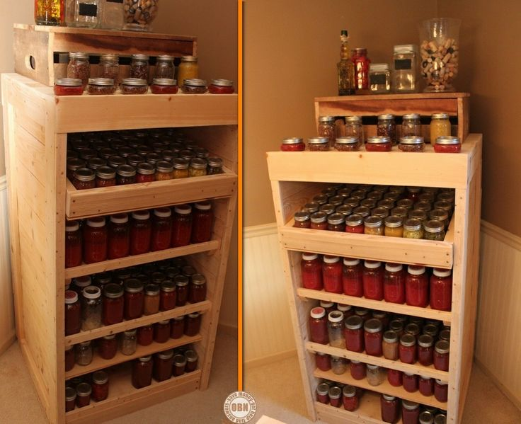 Heres a diy can storage system for your pantry view the for Pantry can storage diy