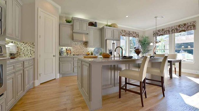 Soft Calm Colors In This Darling Kitchen Are Perfect For