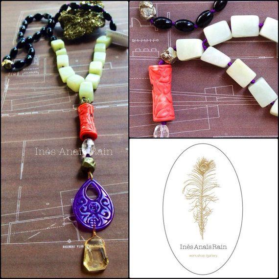 Glamorous yet Earthy & Spiritual Necklace by InesAnaisRain on Etsy