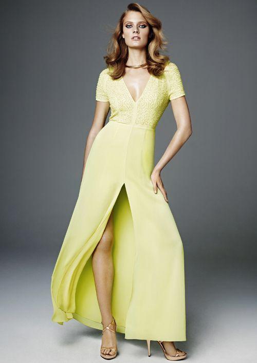 H Conscious Collection: abito lungo giallo della collezione