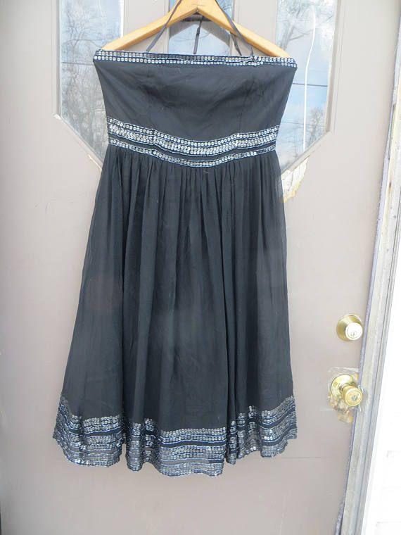 vtg Adrianna Papell Women's beaded /  Sequined black