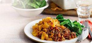 Power up your weight loss with this super protein and speed food rich hearty cottage pie. Serve with heaps of green beans and broccoli.