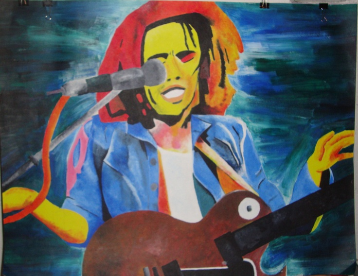 Bob.    Acrylic paint on poster board
