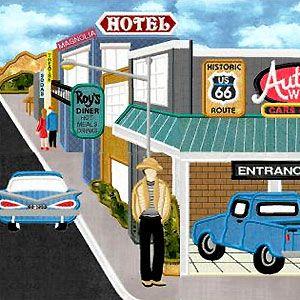 151 best Route 66 quilts images on Pinterest | Route 66, Cotton ... : route 66 quilt pattern - Adamdwight.com