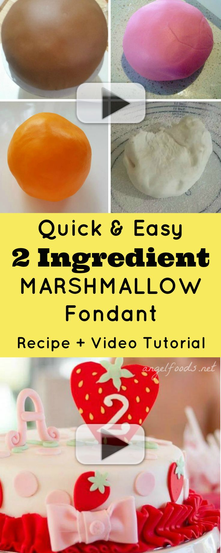 Quick and easy 2 ingredient marshmallow fondant recipe for Quick and easy cake recipes