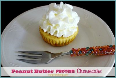 Shake Mix to make delicious mini peanut butter protein cheesecakes ...