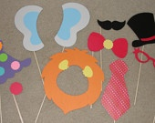 Perfect for a carnival / circus birthday party - photo booth props