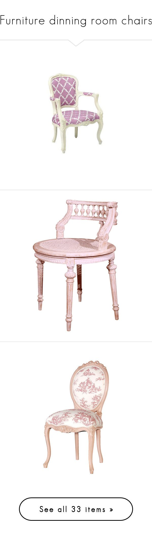 """""""Furniture dinning room chairs"""" by booboored ❤ liked on Polyvore featuring home, furniture, purple furniture, chairs, pink, arredamento, filler, accent chairs, fillers and pink furniture"""