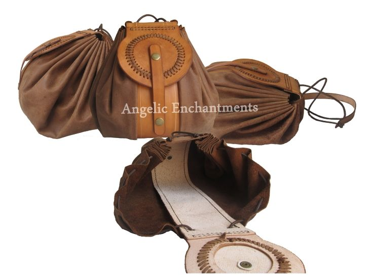 DRAW STRING LEATHER BAG  Large two tone draw-string, cross body bag.  SIZE: 23cm  x 23cm x 16cm  MATERIALS:  Safari brown chrome tan cow hide with veg tan strip and flap.  4mm diameter leather string.   NOTE:  This bag is made by hand and might have slight variations in colour and construction pen lines may be visible on interior.